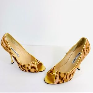 Authentic Manolo Blahnik Animal Print